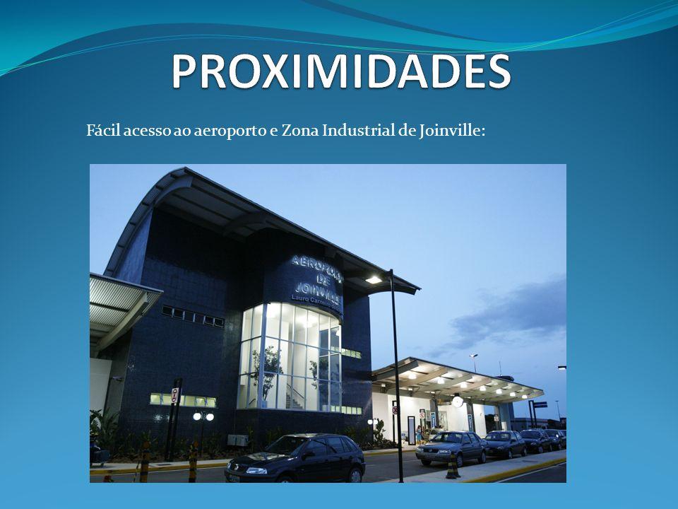 Fácil acesso ao aeroporto e Zona Industrial de Joinville: