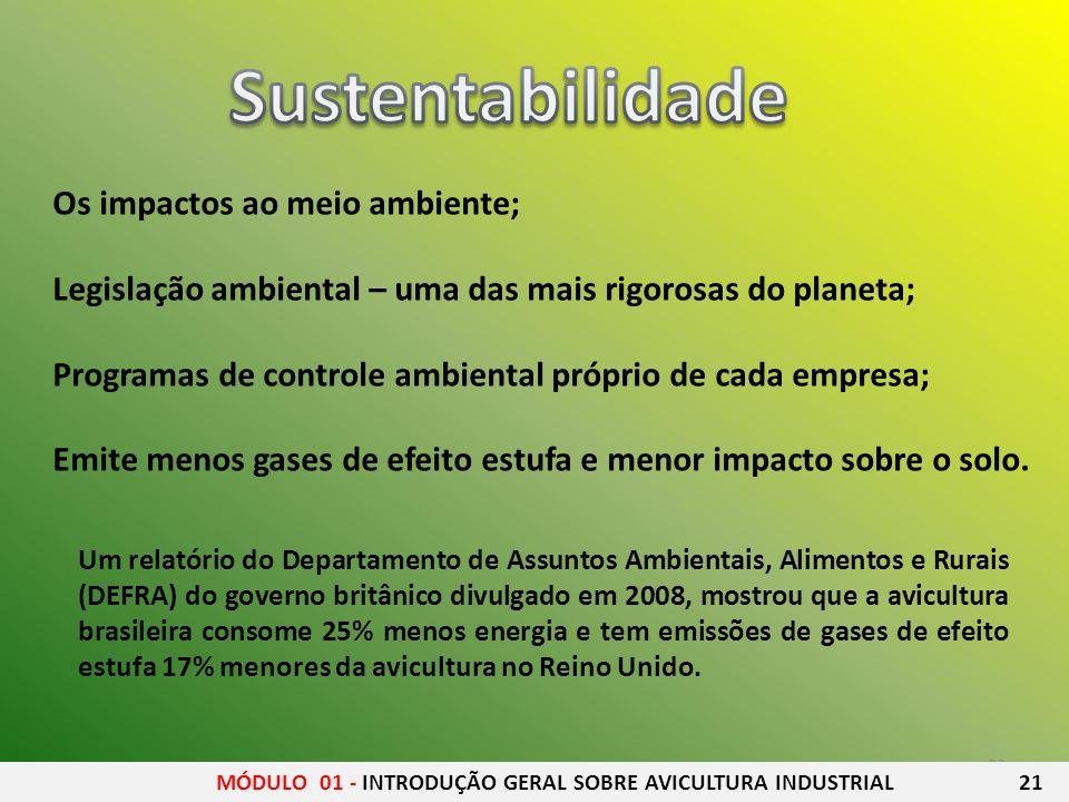 22 Os impactos ao meio ambiente; Legislação ambiental – uma das mais rigorosas do planeta; Programas de controle ambiental próprio de cada empresa; Em