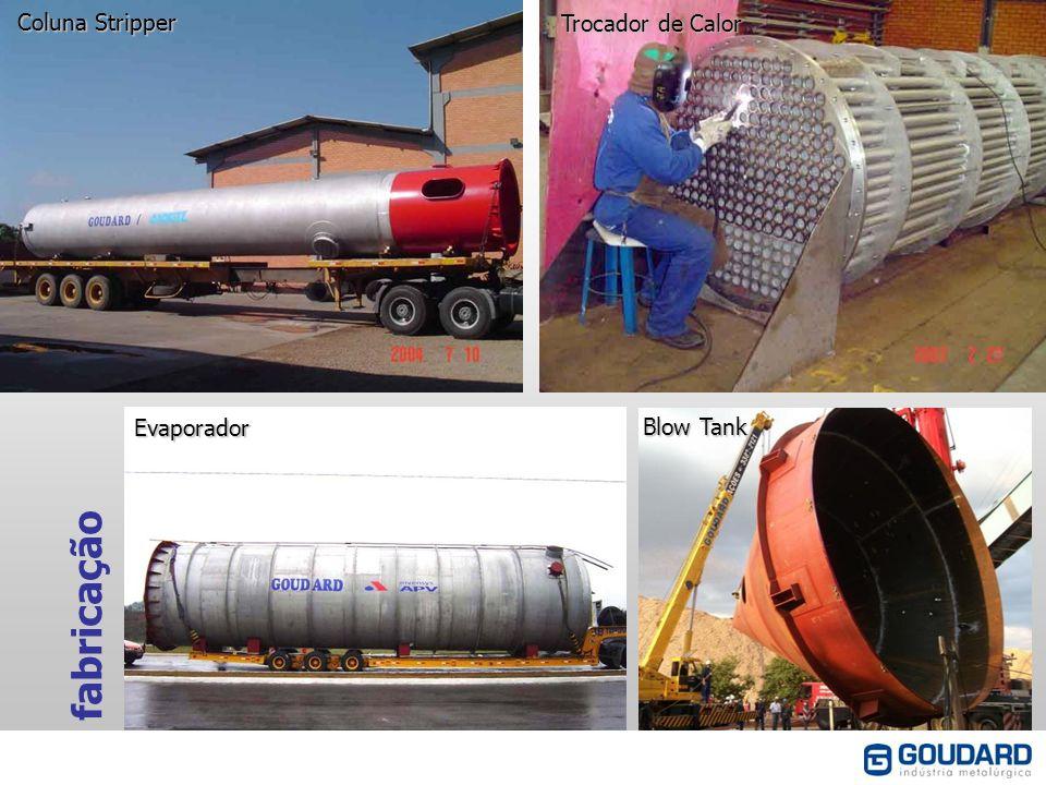 fabricação Coluna Stripper Trocador de Calor Evaporador Blow Tank