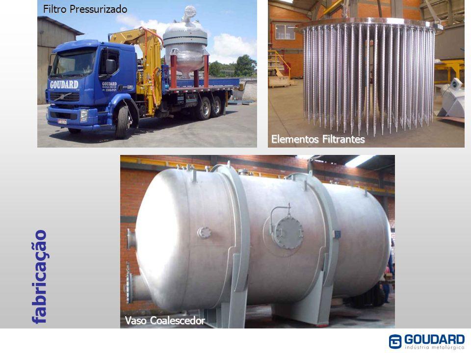 fabricação Filtro Pressurizado Elementos Filtrantes Vaso Coalescedor