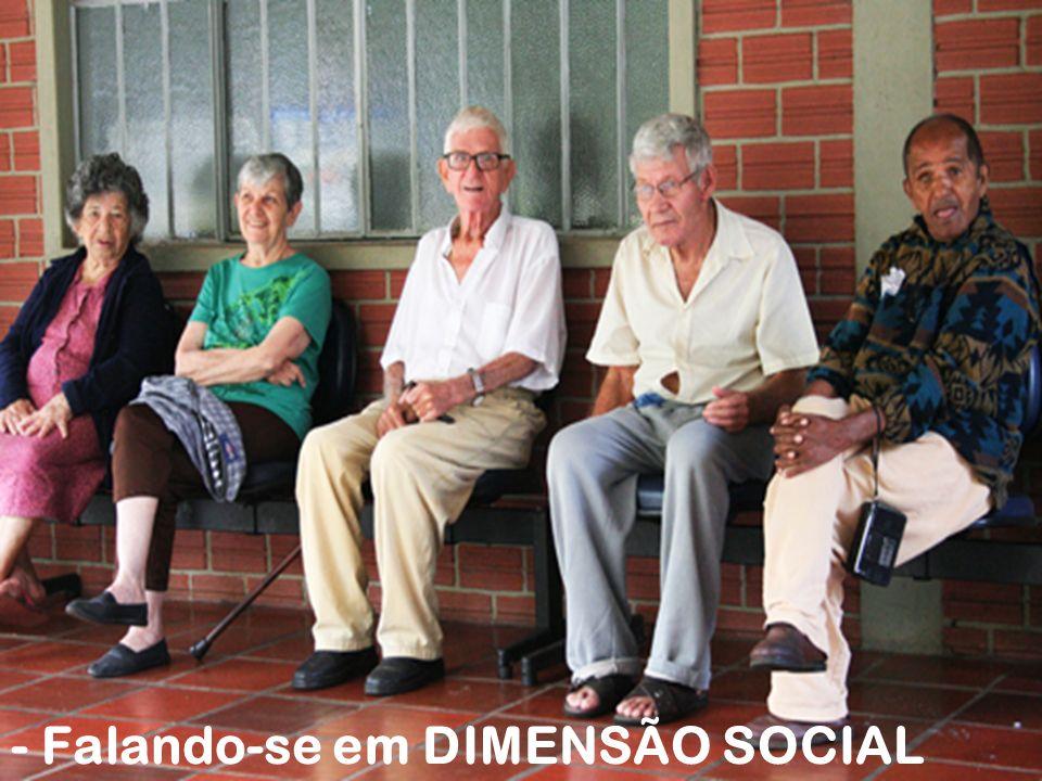 - Falando-se em DIMENSÃO SOCIAL