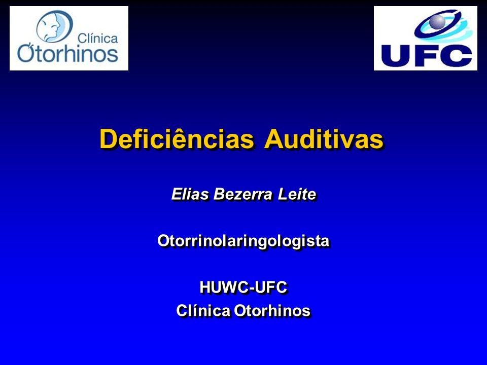 Deficiências Auditivas Doença de Ménière -Hidropsia endolinfática -Etiologia desconhecida -Distúrbio de produção ou absorção.