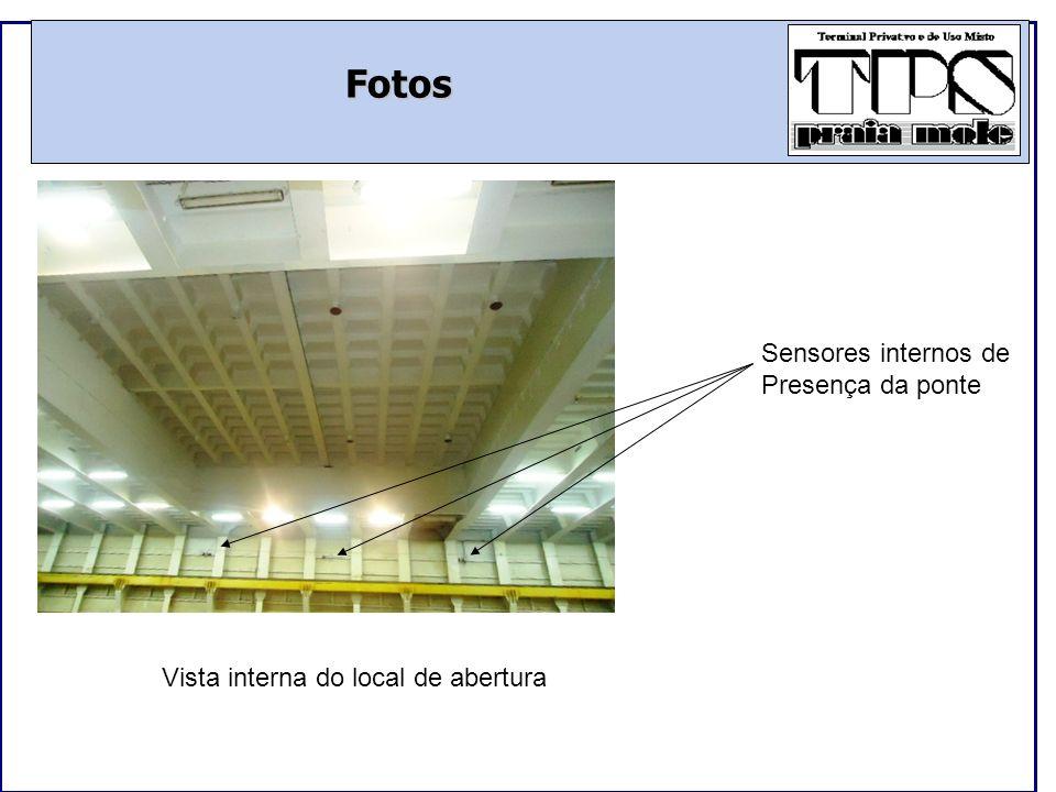 Fotos Vista superior da tampa, onde deverão ser fixados cabos Para sua remoção/movimentação