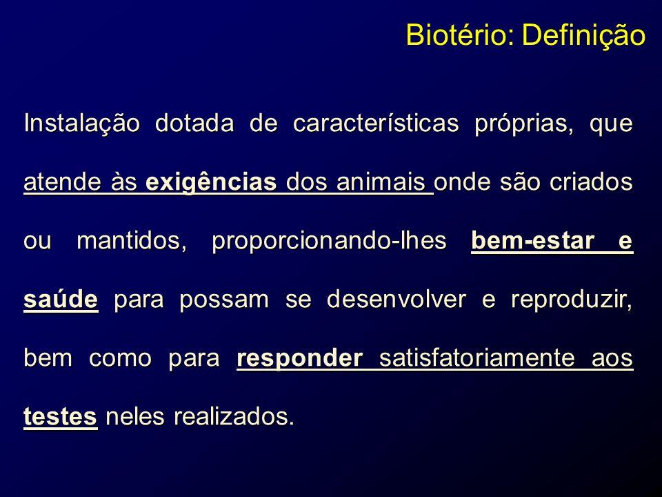 C APAZES DE PRODUZIR E MANTER ESPÉCIES ANIMAIS DESTINADAS A SERVIR COMO REAGENTES BIOLÓGICOS EM DIVERSOS TIPOS DE ENSAIOS CONTROLADOS, PARA ATENDER AS NECESSIDADES DOS PROGRAMAS DE PESQUISA, ENSINO, PRODUÇÃO E CONTROLE DE QUALIDADE NAS ÁREAS BIOMÉDICAS, CIÊNCIAS HUMANAS E TECNOLÓGICAS SEGUNDO A FINALIDADE DA INSTITUIÇÃO.