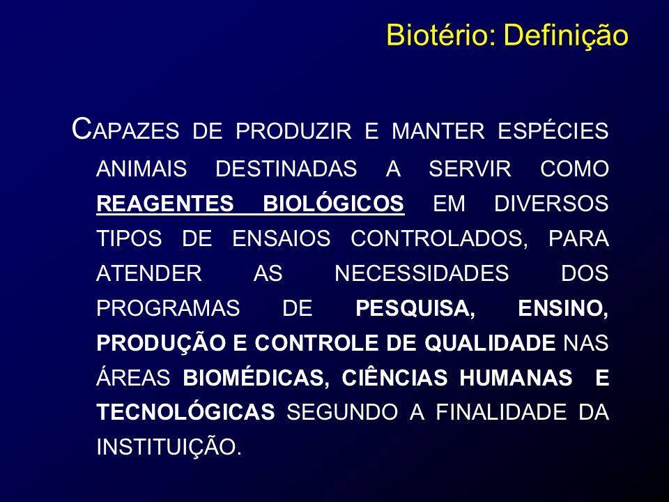 Animais SPF - Manutenção Animais SPF - Manutenção CLASSIFICAÇÃO SANITÁRIA DOS ANIMAIS DE LABORATÓRIO