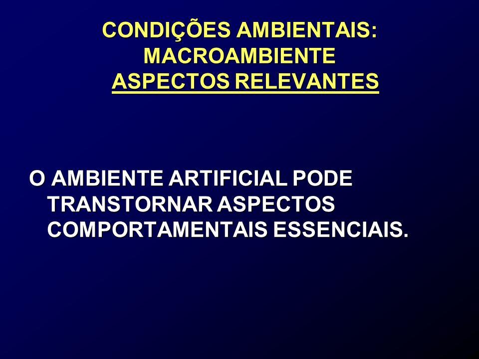 AMBIENTE DE TRABALHO ODORES –Grande parte é produzida pela decomposição bacteriana dos excrementos, porém não se devem usar produtos que os mascarem pois podem ser nocivos aos animais.
