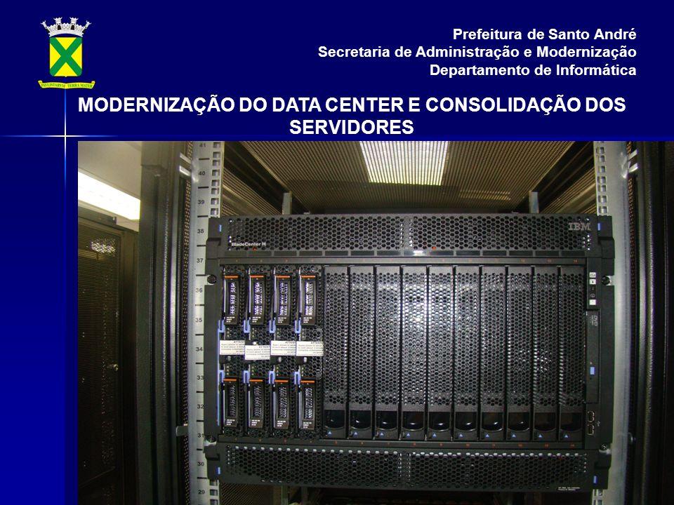 Prefeitura de Santo André Secretaria de Administração e Modernização Departamento de Informática MODERNIZAÇÃO DO DATA CENTER E CONSOLIDAÇÃO DOS SERVIDORES