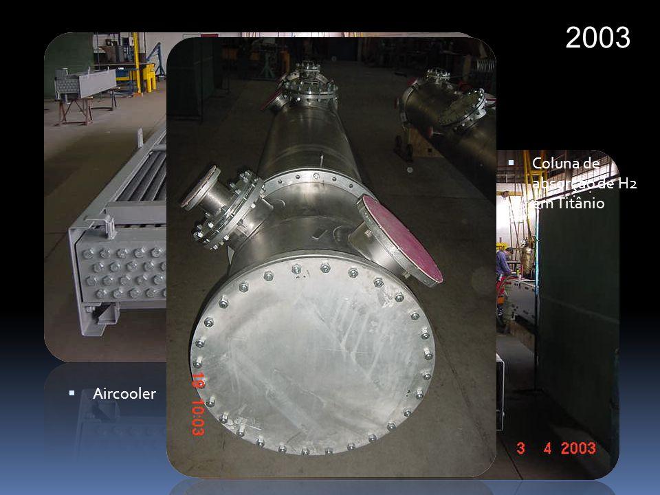 2003 Aircooler Coluna de absorção de H2 em Titânio