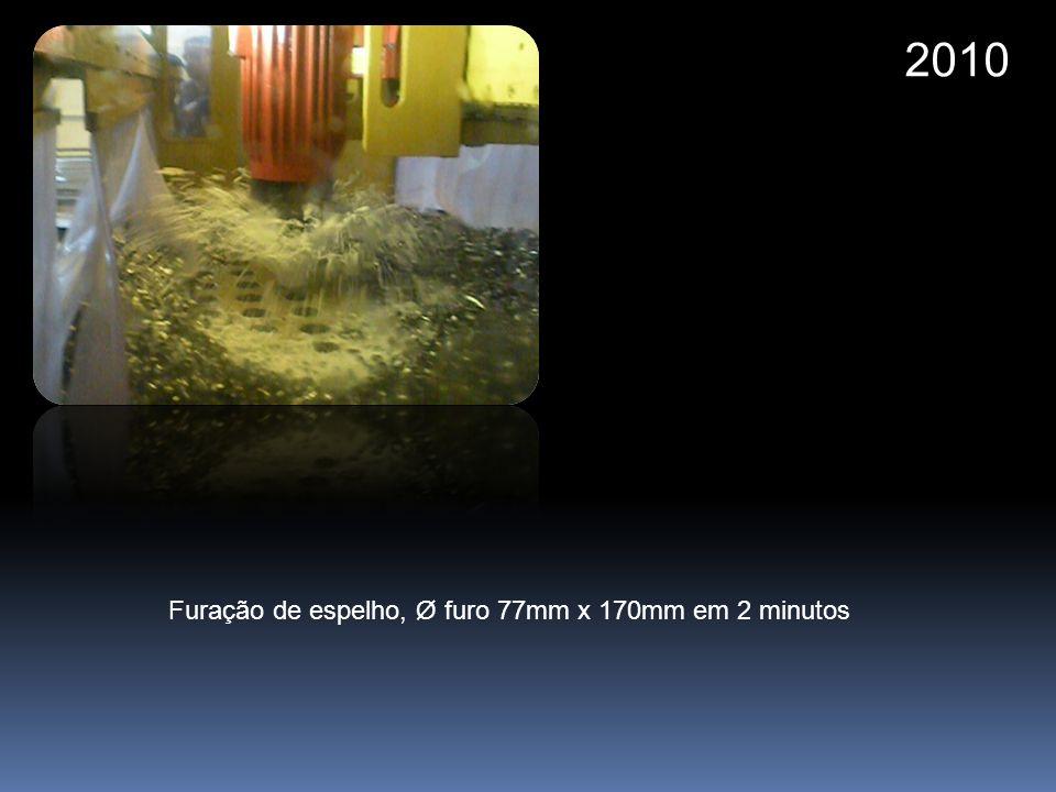 2010 Furação de espelho, Ø furo 77mm x 170mm em 2 minutos