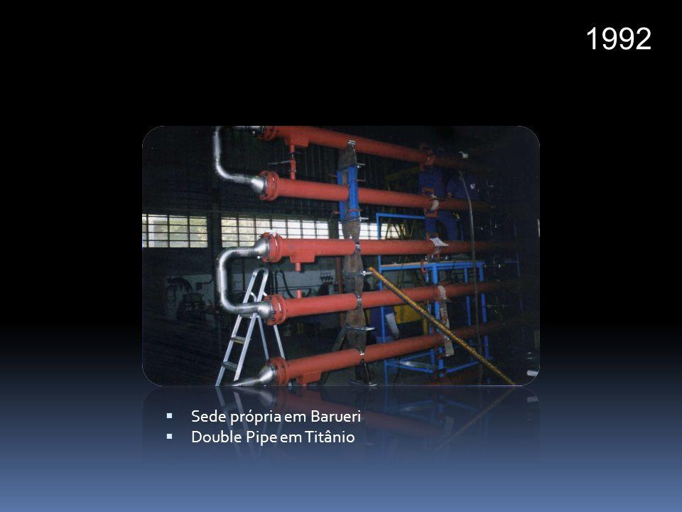 1994 Trocador com casco em Hastelloy C276 e tubos em Zirconio 702 Revestimento em Titânio Serviço de campo Trocador de alta pressão em Titânio