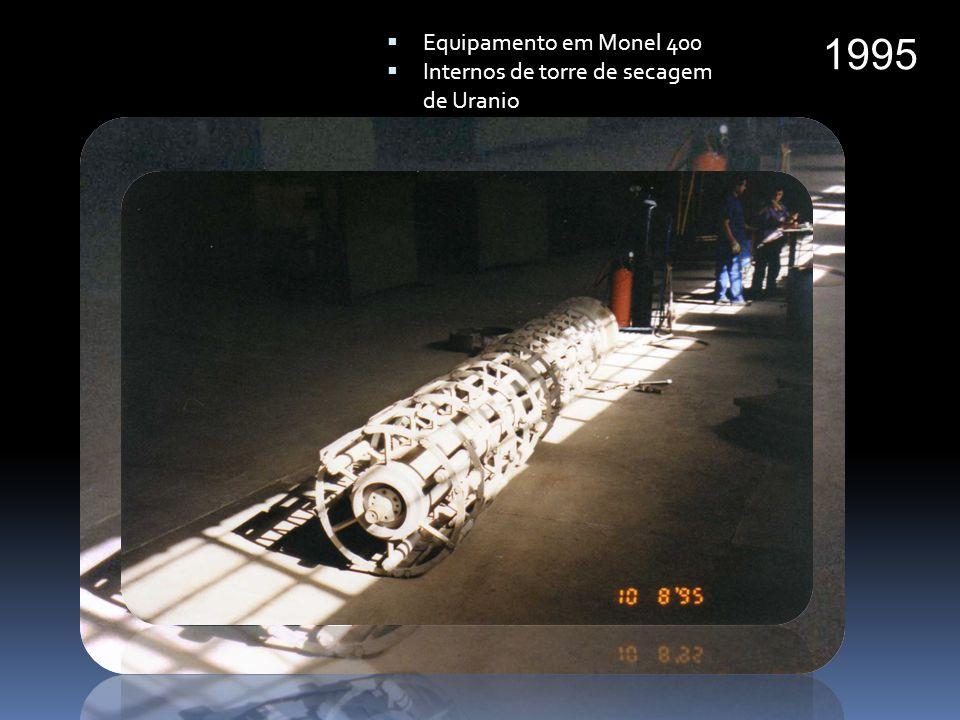 1996 Tubulação em Titânio para alta pressão Vasos em 904 e 317 L Vaso em Titânio com tampo hemisférico para redução de espessura
