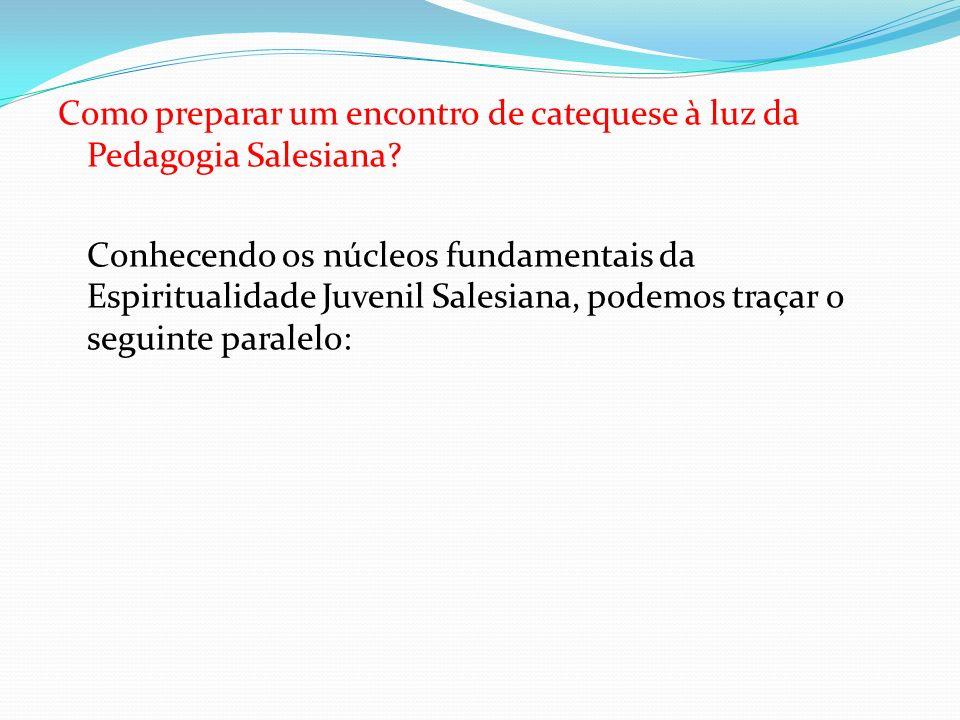 Como preparar um encontro de catequese à luz da Pedagogia Salesiana? Conhecendo os núcleos fundamentais da Espiritualidade Juvenil Salesiana, podemos