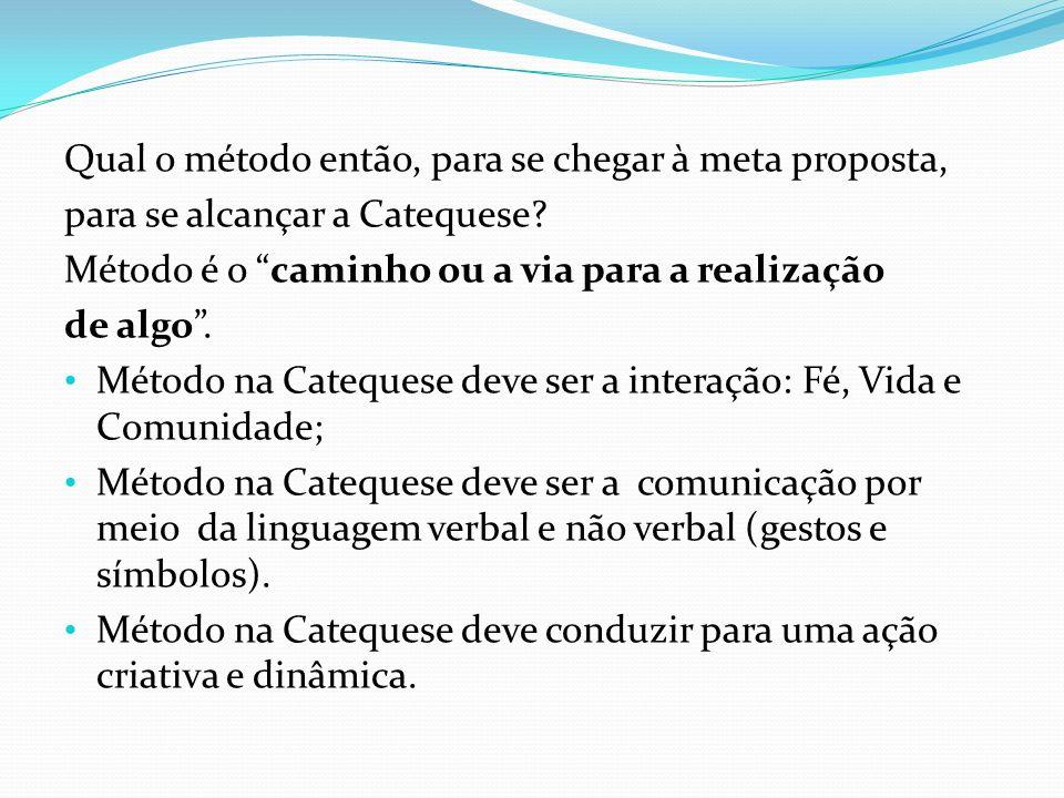 O método usado na Catequese é o método da Igreja.