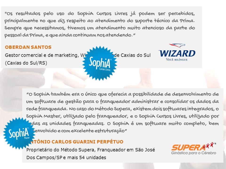 OBERDAN SANTOS Gestor comercial e de marketing, Wizard – Unidade Caxias do Sul (Caxias do Sul/RS) ANTÔNIO CARLOS GUARINI PERPÉTUO Proprietário do Méto