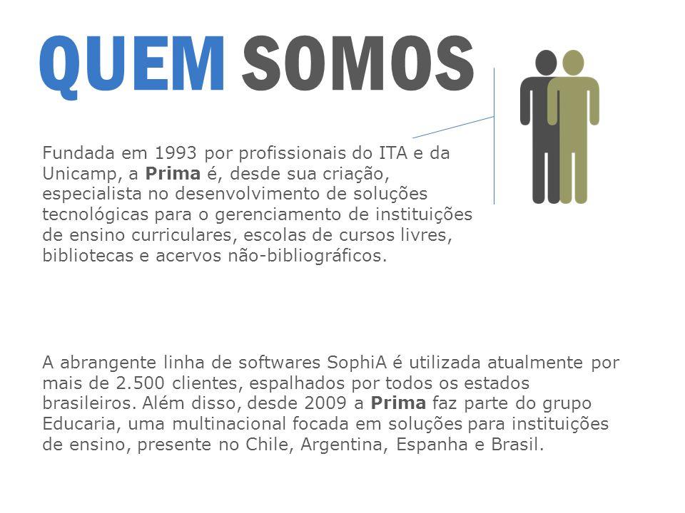 QUEM SOMOS Fundada em 1993 por profissionais do ITA e da Unicamp, a Prima é, desde sua criação, especialista no desenvolvimento de soluções tecnológic