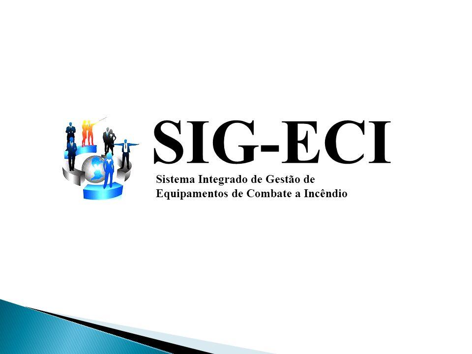 SIG-ECI Sistema Integrado de Gestão de Equipamentos de Combate a Incêndio Tela de Cadastro de Manutenção Tela de controle de manutenção, onde são escolhidos os equipamentos que deverão ser encaminhados para manutenção