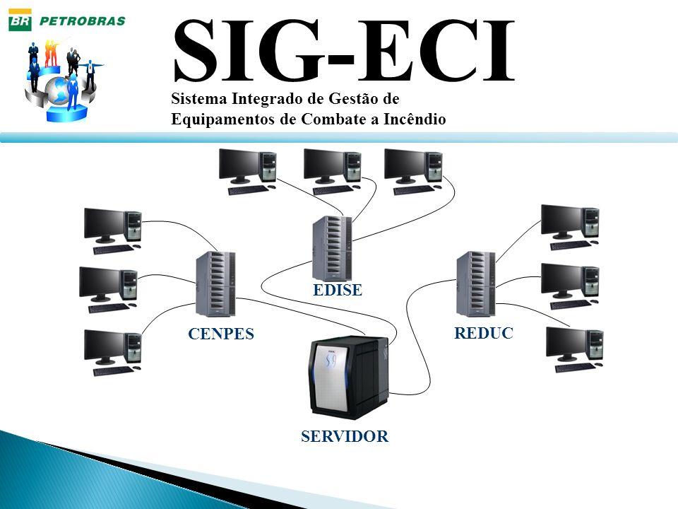 SIG-ECI Sistema Integrado de Gestão de Equipamentos de Combate a Incêndio Tela de Cadastro de Usuários Tela que permite cadastrar, alterar, excluir e definir perfil de acesso do usuário.