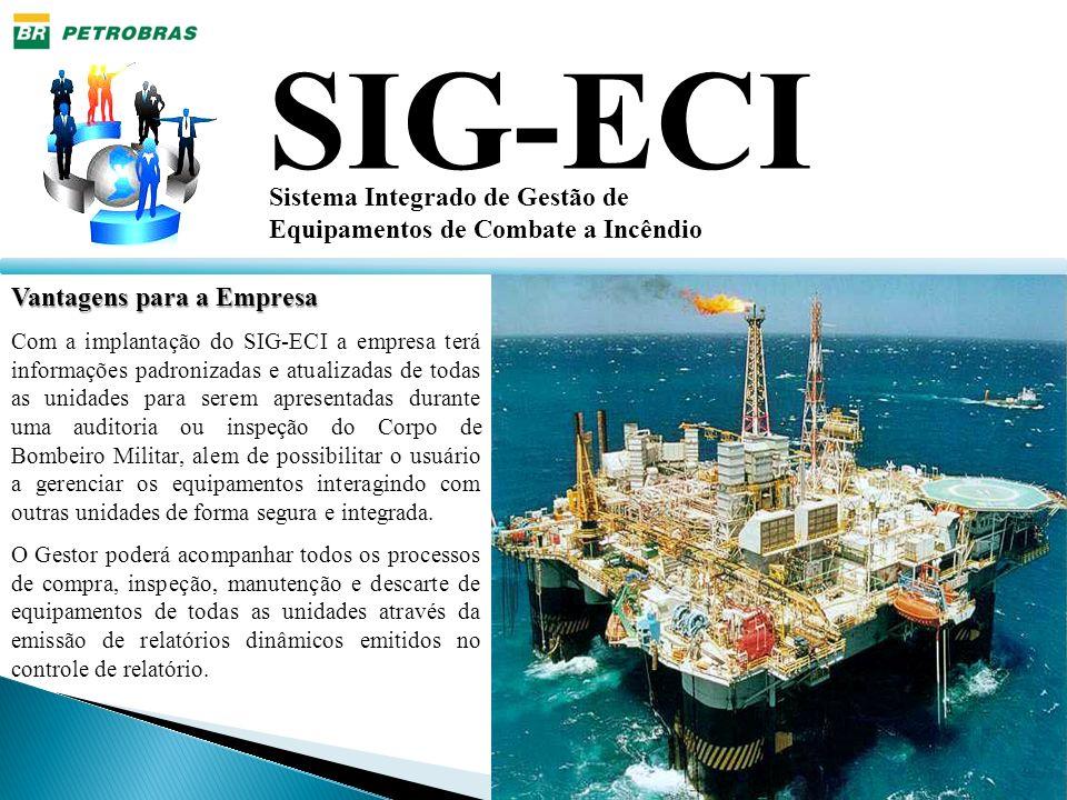 Vantagens para a Empresa Com a implantação do SIG-ECI a empresa terá informações padronizadas e atualizadas de todas as unidades para serem apresentad