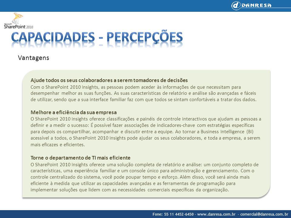Fone: 55 11 4452-6450 - www.danresa.com.br - comercial@danresa.com.br Vantagens Ajude todos os seus colaboradores a serem tomadores de decisões Com o