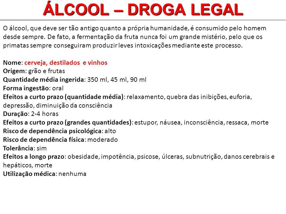 O álcool, que deve ser tão antigo quanto a própria humanidade, é consumido pelo homem desde sempre. De fato, a fermentação da fruta nunca foi um grand