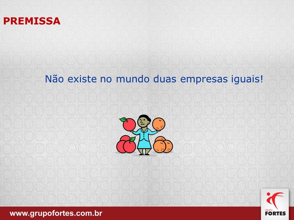 PREMISSA Não existe no mundo duas empresas iguais!