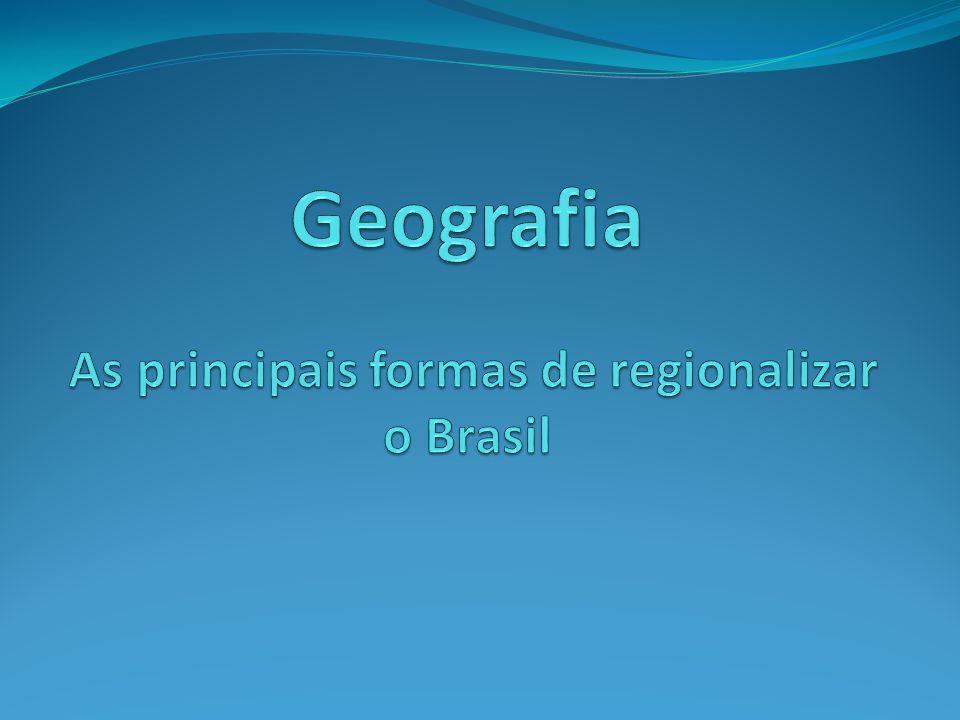 Regionalização e Planejamento regional O que é regionalização.