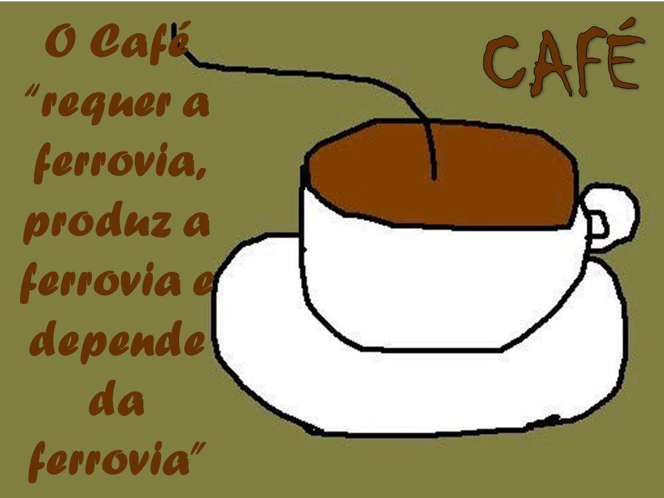 O Café requer a ferrovia, produz a ferrovia e depende da ferrovia