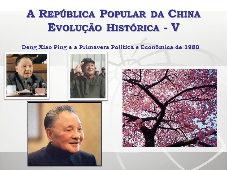 A R EPÚBLICA P OPULAR DA C HINA E VOLUÇÃO H ISTÓRICA - V Deng Xiao Ping e a Primavera Política e Econômica de 1980