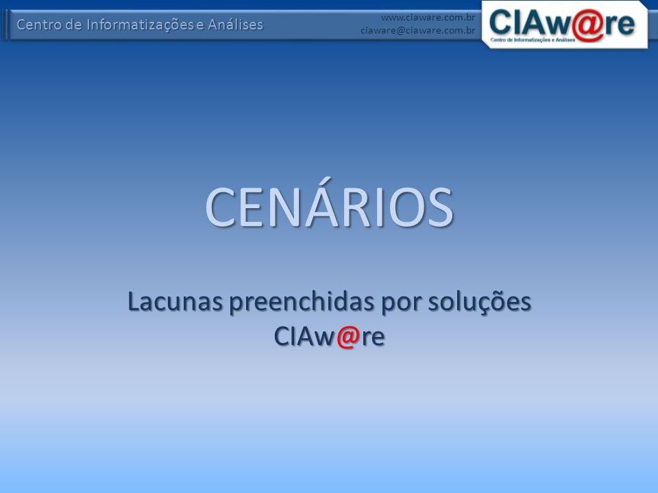 Centro de Informatizações e Análises www.ciaware.com.br ciaware@ciaware.com.br CENÁRIOS Lacunas preenchidas por soluções CIAw@re