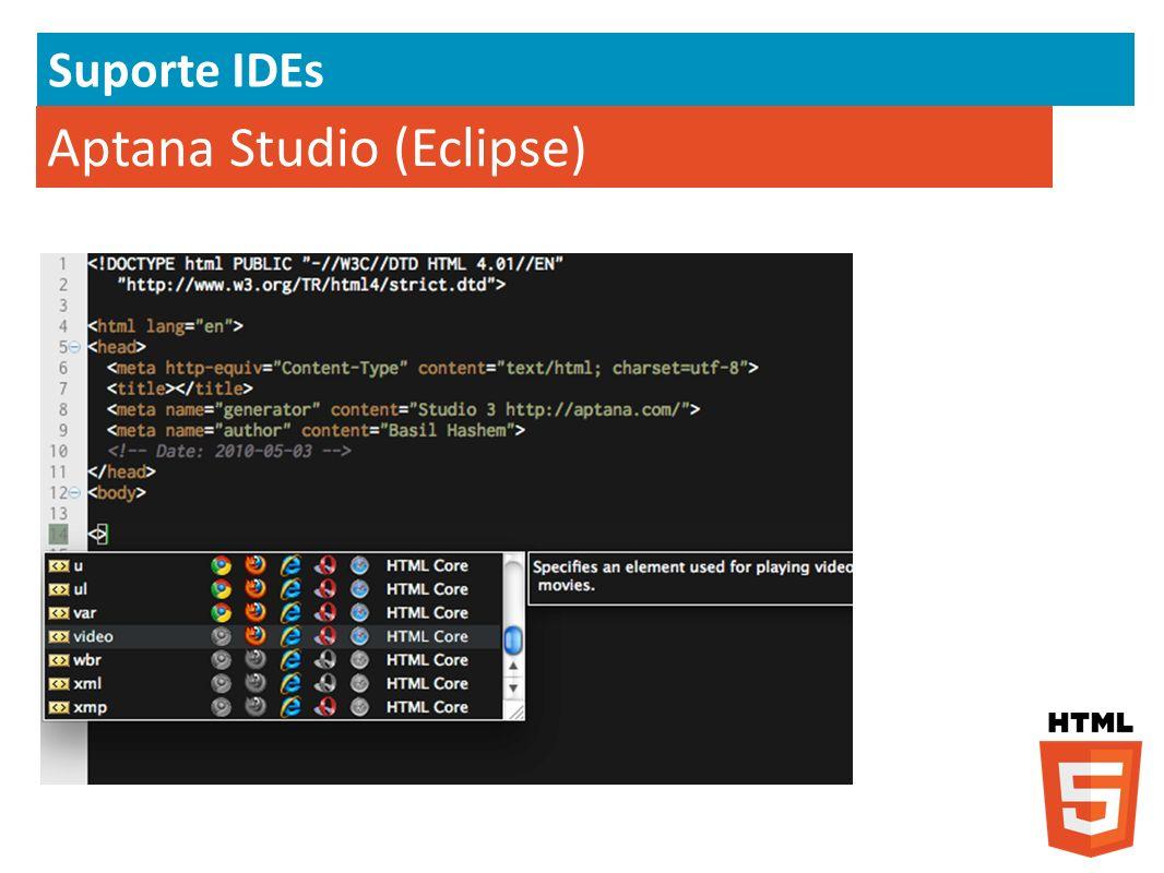 Aptana Studio (Eclipse) Suporte IDEs