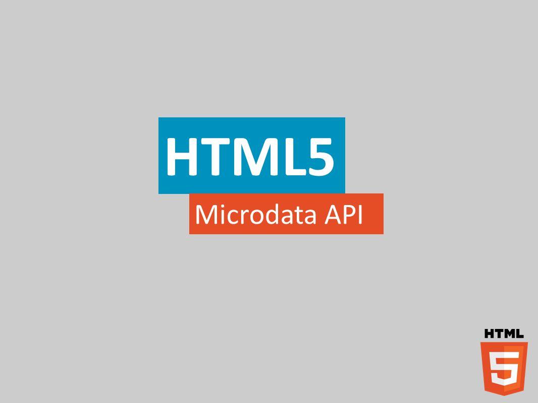 HTML5 Microdata API