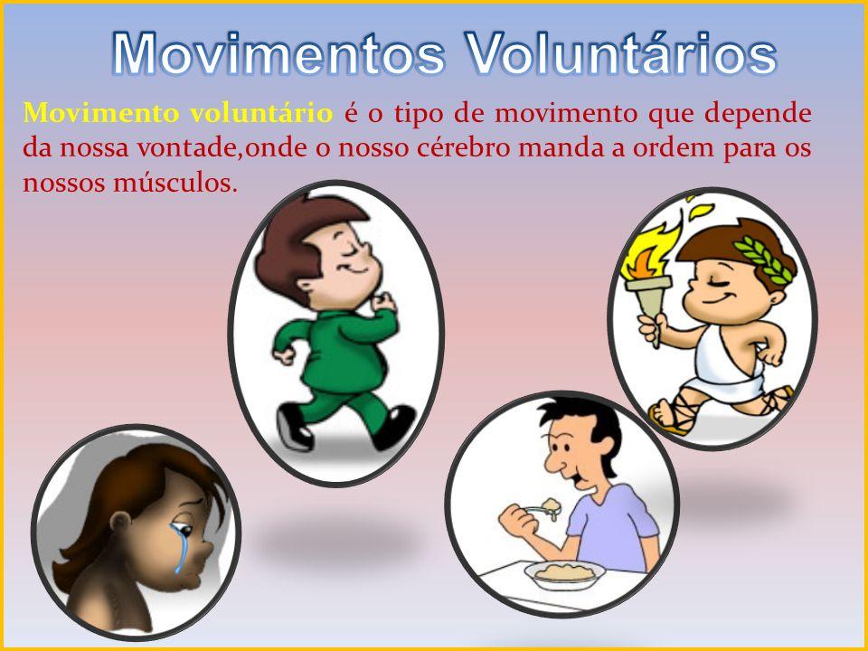 Movimento involuntário ao contrário movimentam-se independentemente da nossa vontade.