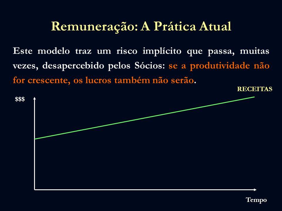 Remuneração: A Prática Atual se a produtividade não for crescente, os lucros também não serão Este modelo traz um risco implícito que passa, muitas ve