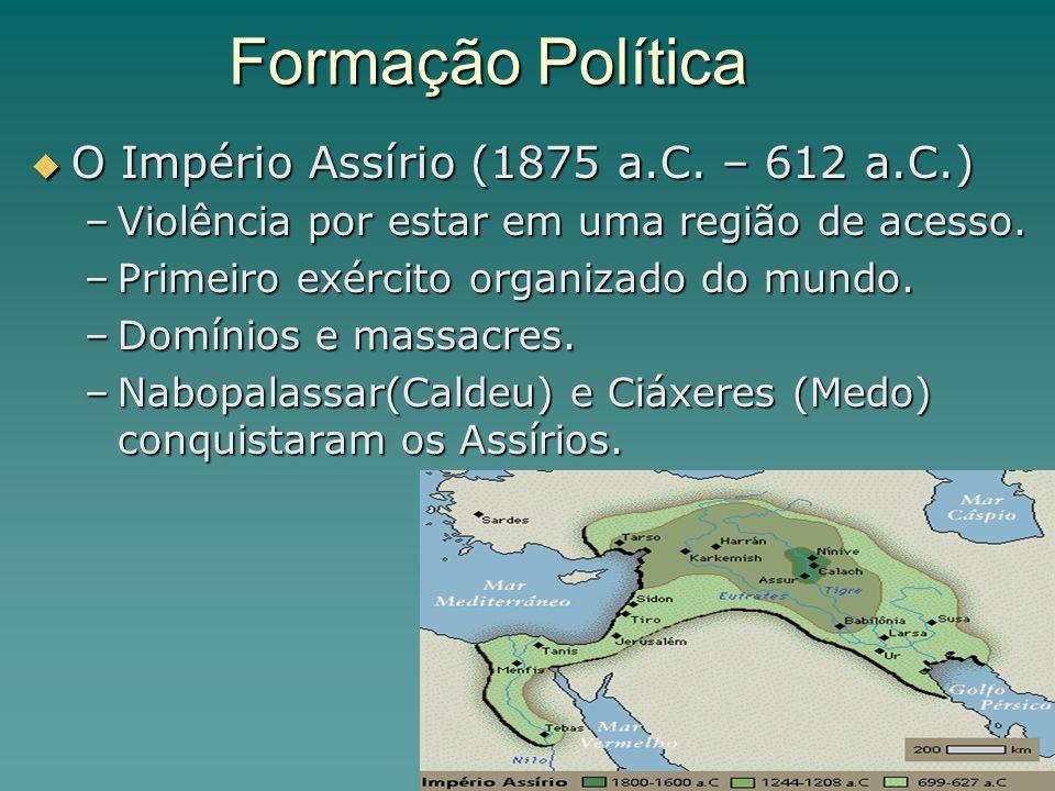 Formação Política O Império Assírio (1875 a.C.– 612 a.C.) O Império Assírio (1875 a.C.