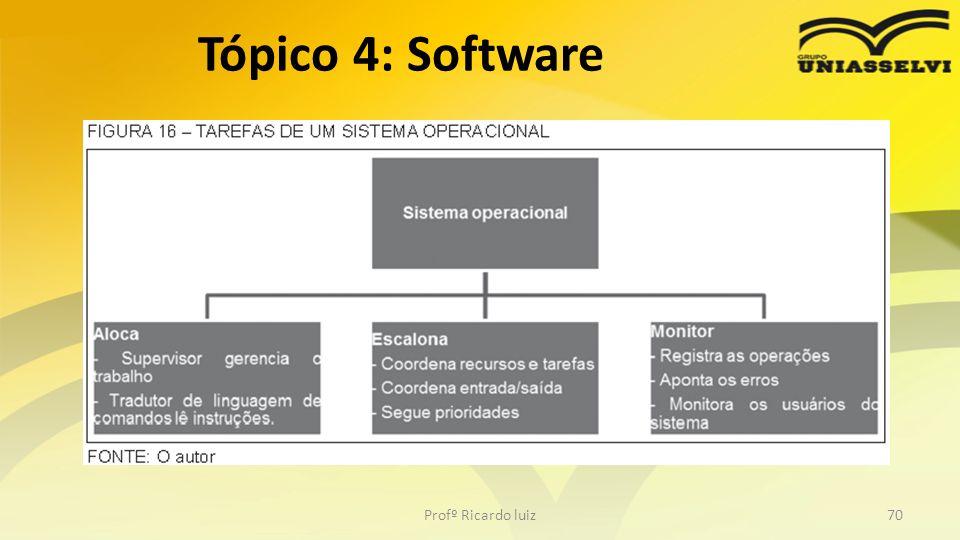 Profº Ricardo luiz70 Tópico 4: Software