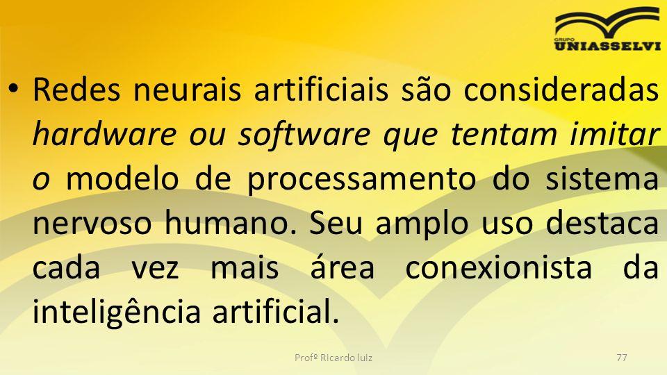 Redes neurais artificiais são consideradas hardware ou software que tentam imitar o modelo de processamento do sistema nervoso humano. Seu amplo uso d