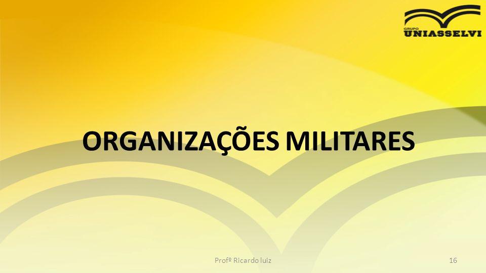ORGANIZAÇÕES MILITARES Profº Ricardo luiz16