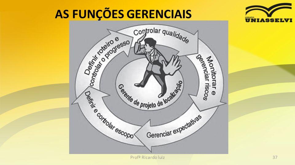 AS FUNÇÕES GERENCIAIS Profº Ricardo luiz37
