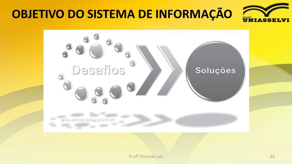 OBJETIVO DO SISTEMA DE INFORMAÇÃO Profº Ricardo luiz44