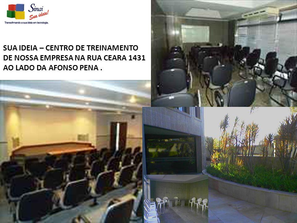 SUA IDEIA – CENTRO DE TREINAMENTO DE NOSSA EMPRESA NA RUA CEARA 1431 AO LADO DA AFONSO PENA.