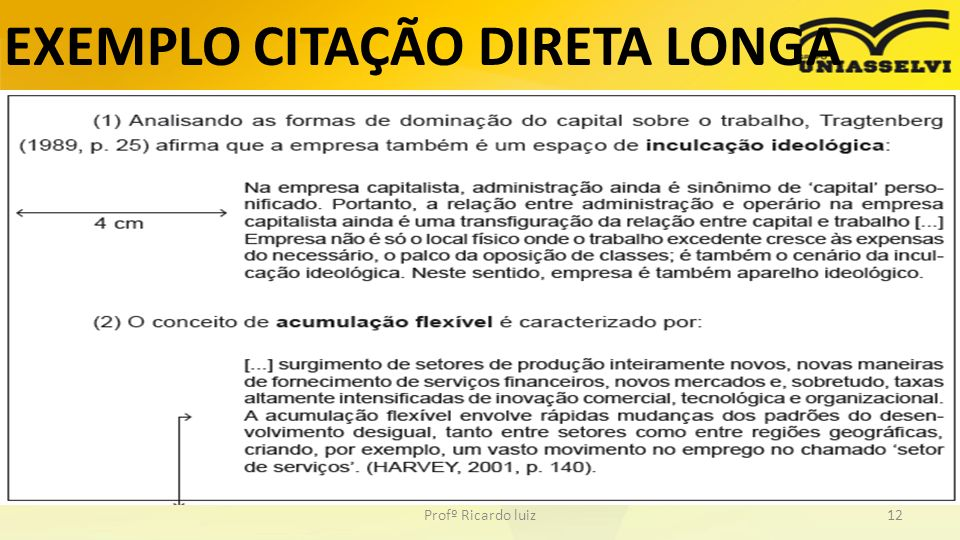 EXEMPLO CITAÇÃO DIRETA LONGA Profº Ricardo luiz12