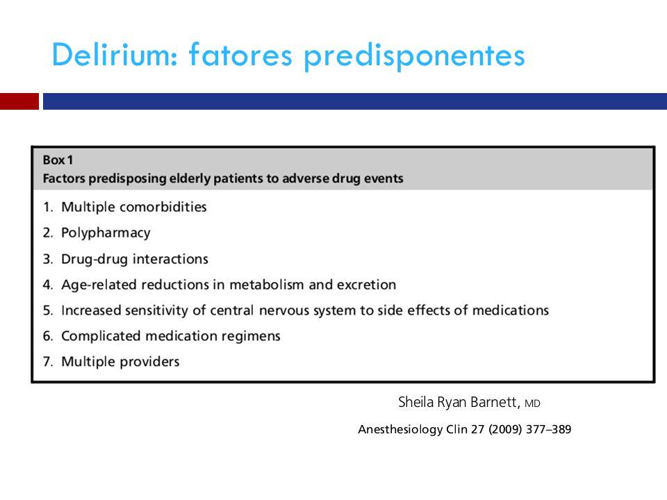Delirium: fatores predisponentes