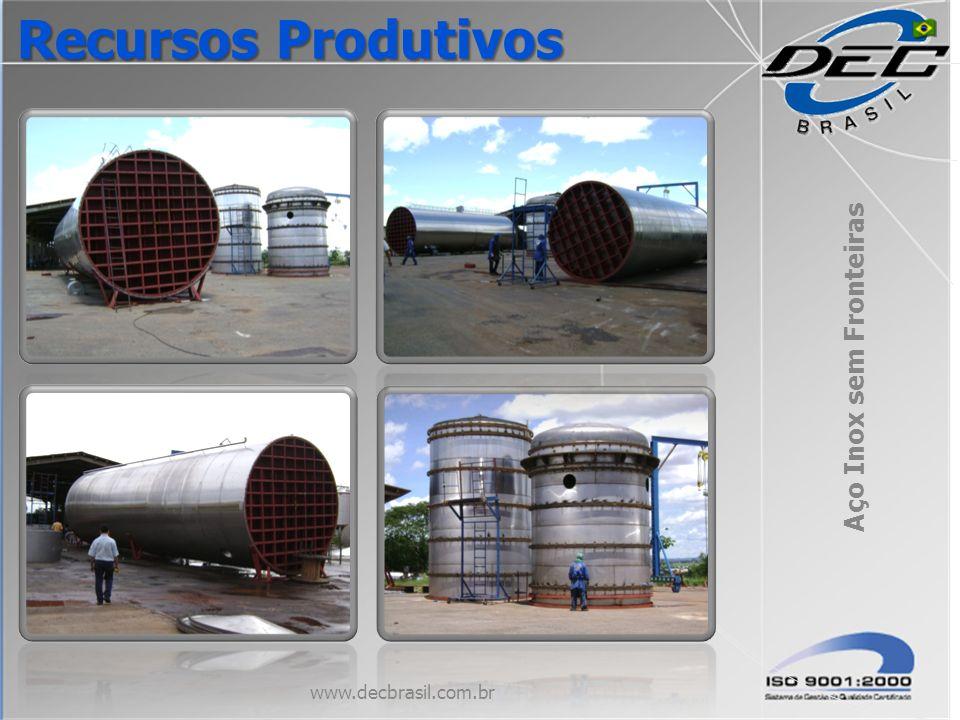 Aço Inox sem Fronteiras www.decbrasil.com.br Recursos Produtivos