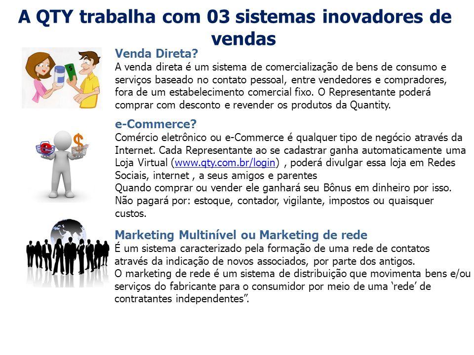 A QTY trabalha com 03 sistemas inovadores de vendas e-Commerce? Comércio eletrônico ou e-Commerce é qualquer tipo de negócio através da Internet. Cada