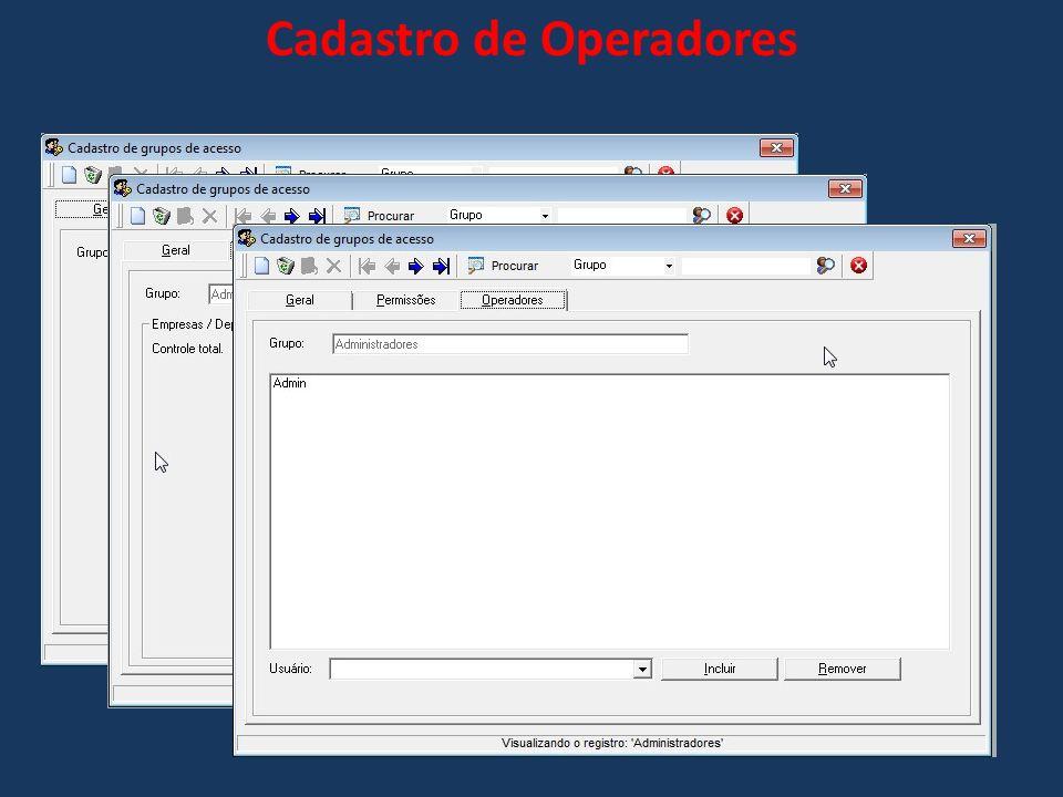 Cadastro de Operadores