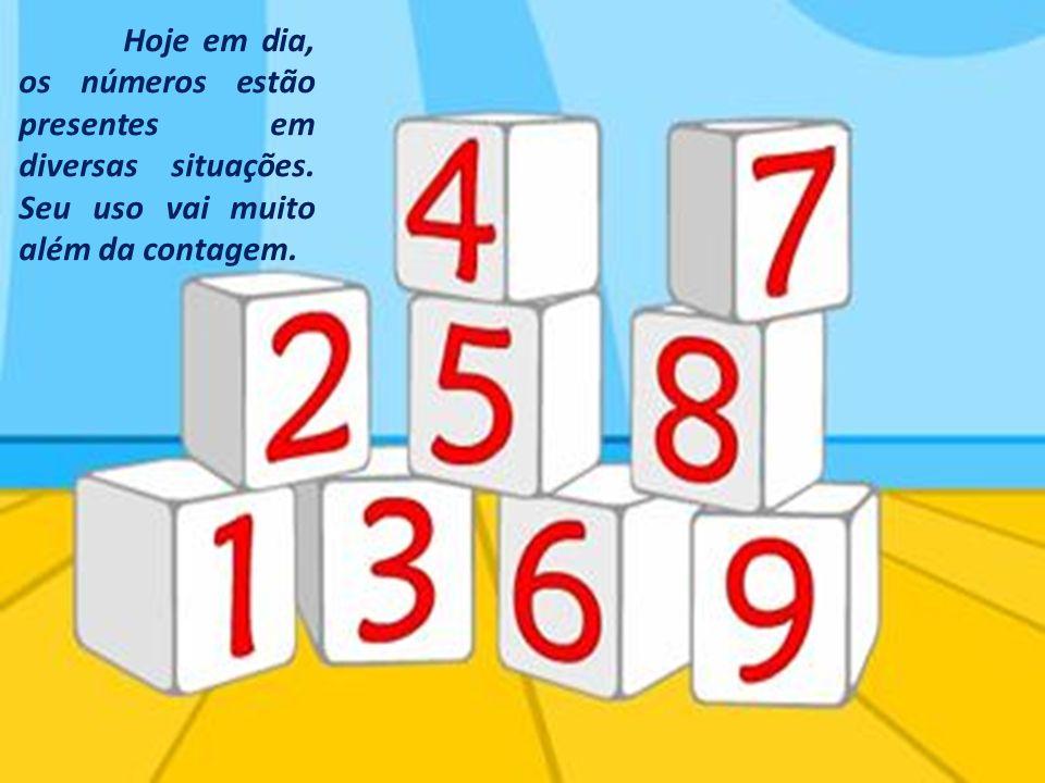 Hoje em dia, os números estão presentes em diversas situações. Seu uso vai muito além da contagem.