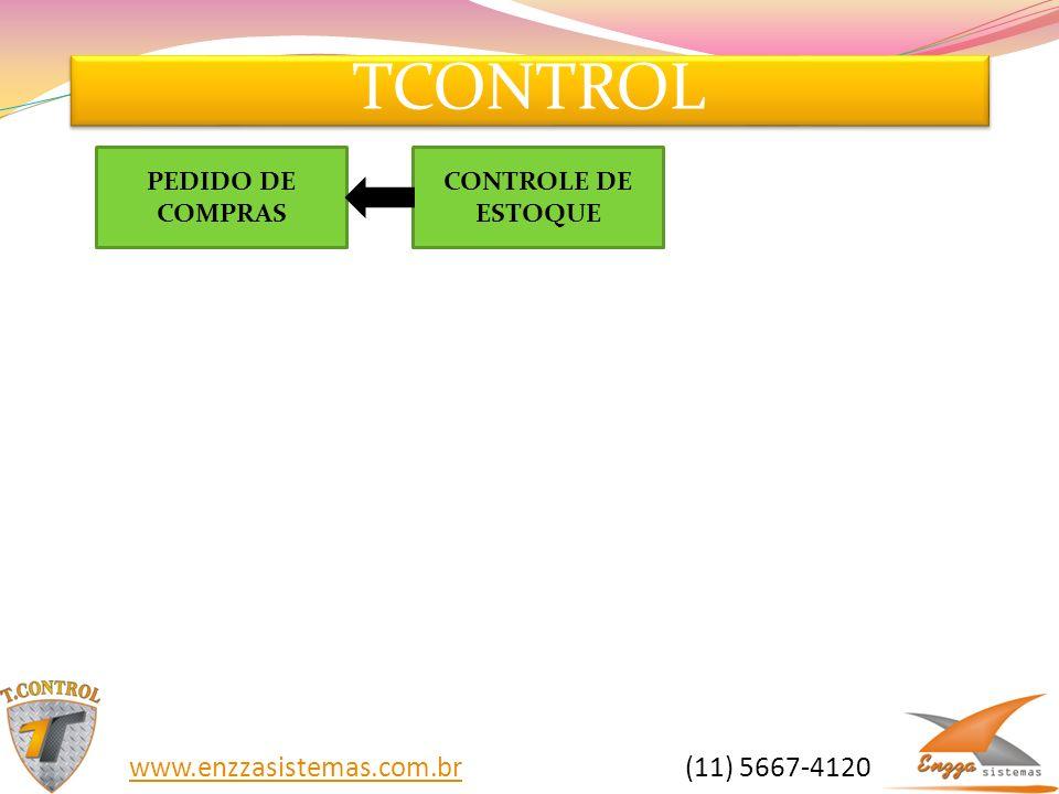 TCONTROL www.enzzasistemas.com.brwww.enzzasistemas.com.br (11) 5667-4120 CONTROLE DE ESTOQUE PEDIDO DE COMPRAS