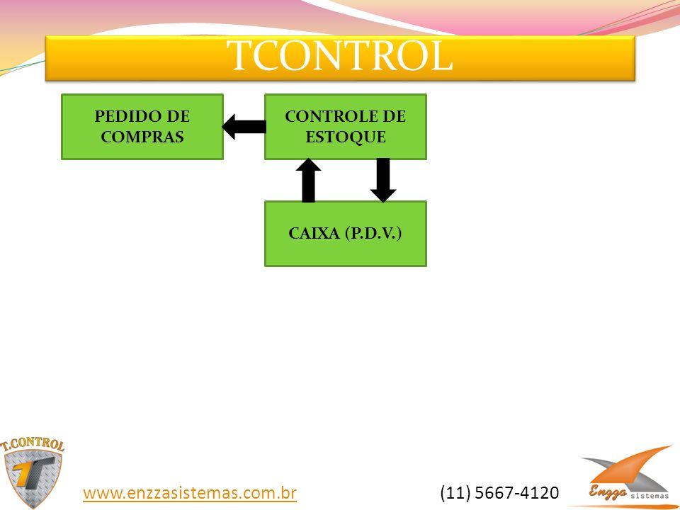 TCONTROL www.enzzasistemas.com.brwww.enzzasistemas.com.br (11) 5667-4120 CONTROLE DE ESTOQUE CAIXA (P.D.V.) PEDIDO DE COMPRAS