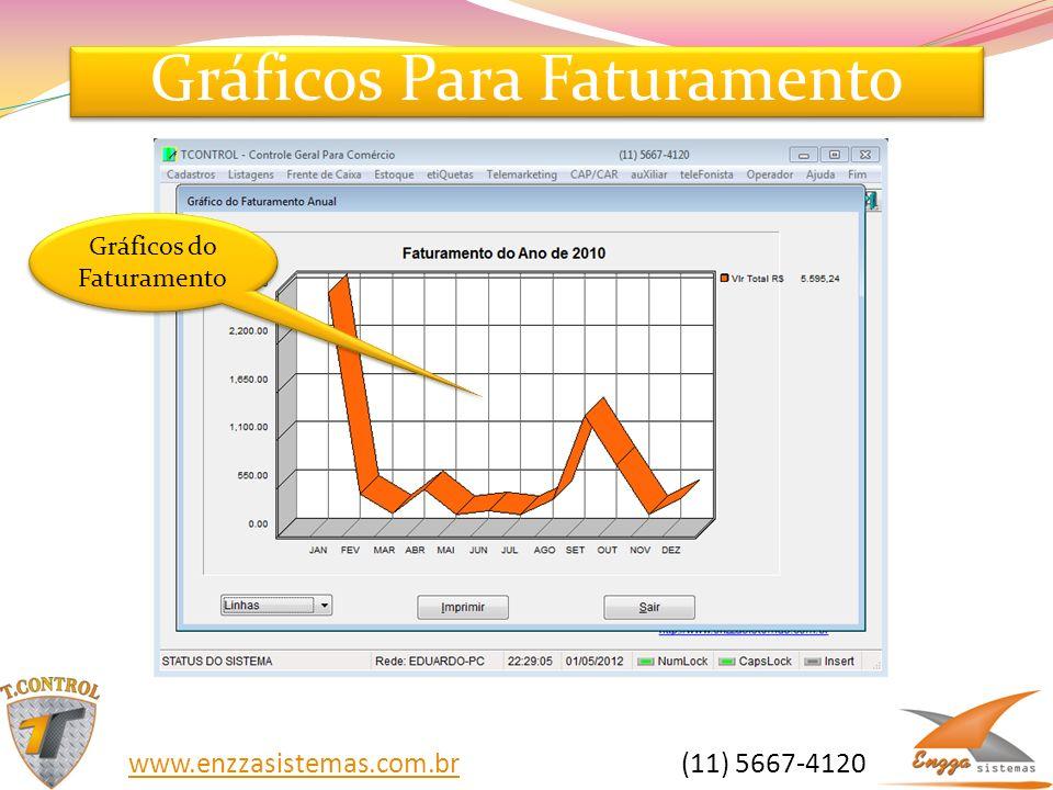 Gráficos Para Faturamento Gráficos do Faturamento www.enzzasistemas.com.brwww.enzzasistemas.com.br (11) 5667-4120