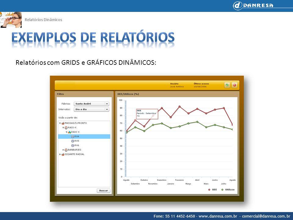 Fone: 55 11 4452-6450 - www.danresa.com.br - comercial@danresa.com.br Relatórios Dinâmicos Relatórios com GRIDS e GRÁFICOS DINÂMICOS:
